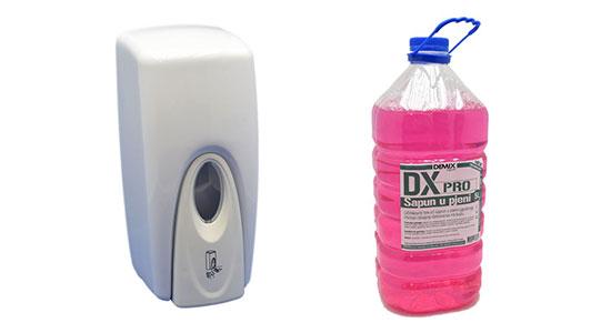713468a4282b1 Ovo je definitivno artikl kojeg morate imati u svom sanitarnom prostoru!  Elegantan i kvalitetan PVC dispenzer za sapun pjenu zapremine 1 litre.