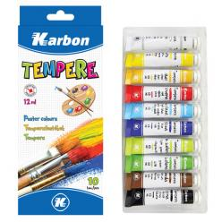 TEMPERA BOJE 10/1 12 ml. KARBON