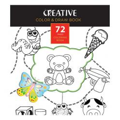 "BOJANKA ""CREATIVE"" COLOR & DRAW 72 lista 20x14 cm"